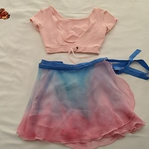 EUC girl's ballet skirt and cover up